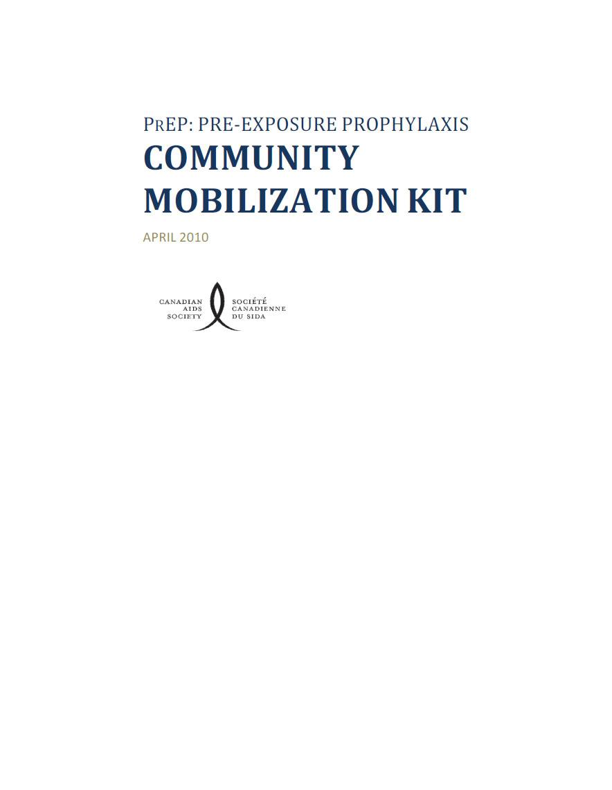 PrEP: Pre-Exposure Prophylaxis Community Mobilization Kit