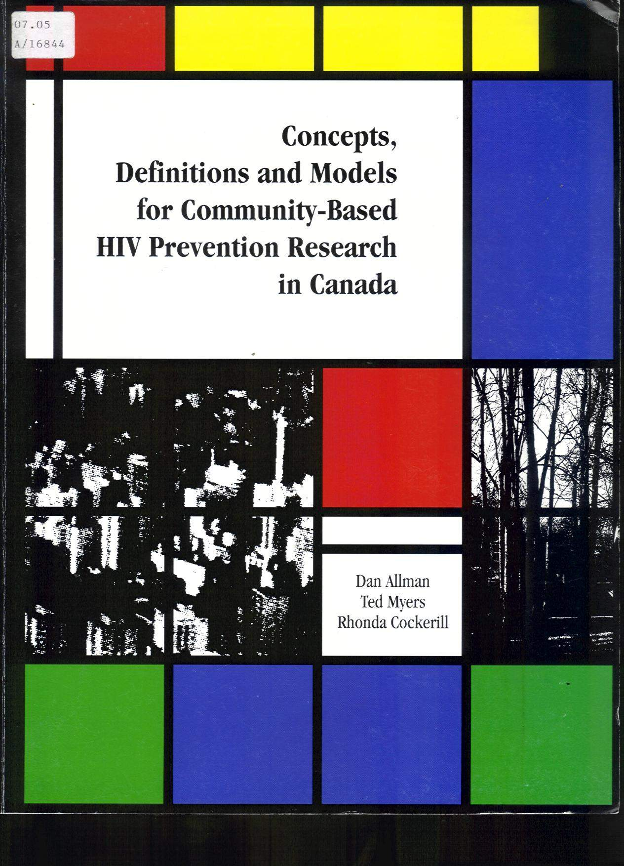 Concepts, Definitions and Models for Community-based HIV Prevention Research in Canada