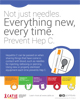 Not just needles. Everything new every time. Prevent Hep C.