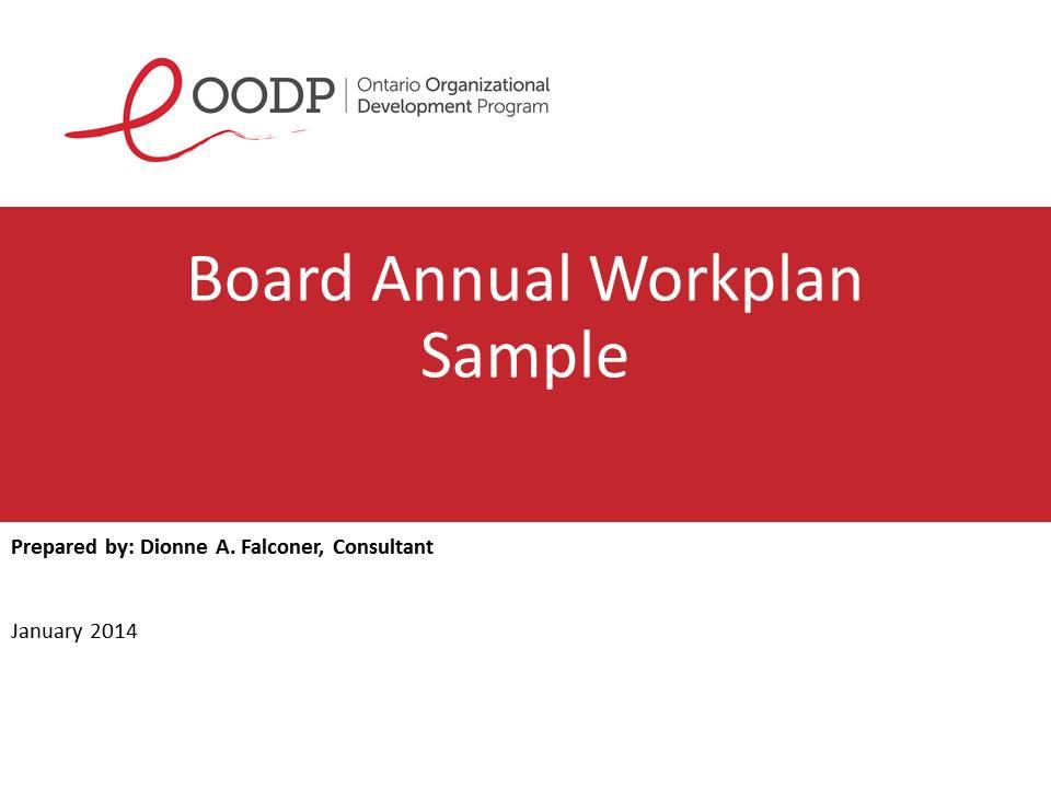 OODP Board Annual Workplan Sample