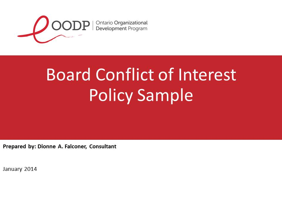 OODP Board Policy on Conflict of Interest Sample