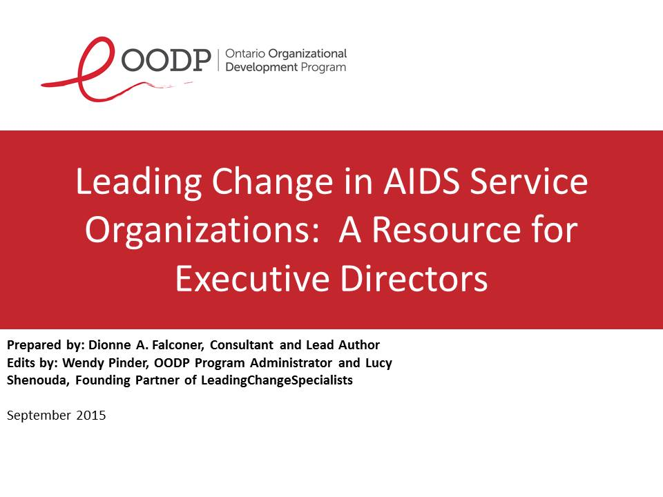 OODP Leading Change in ASO's Resource