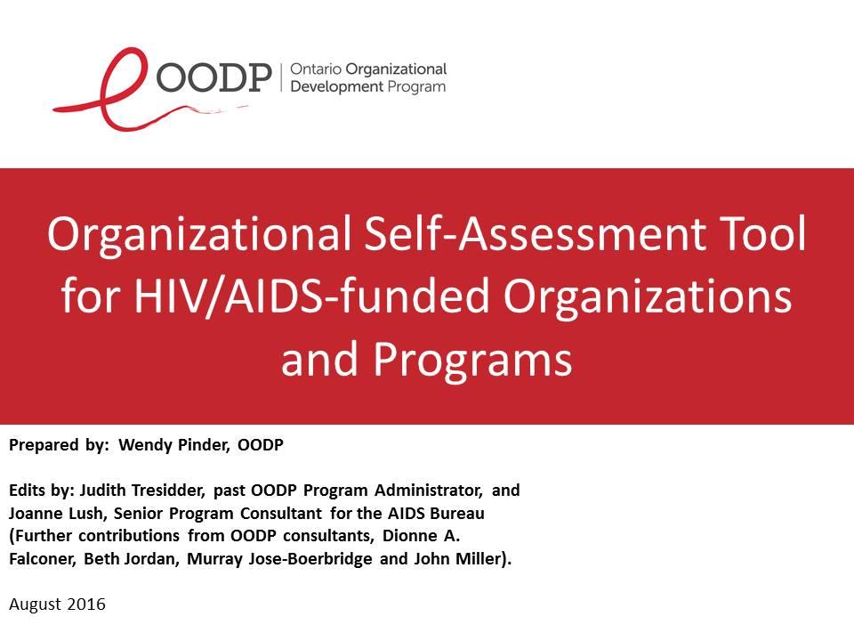OODP Org-Self-Assessment Tool OSAT