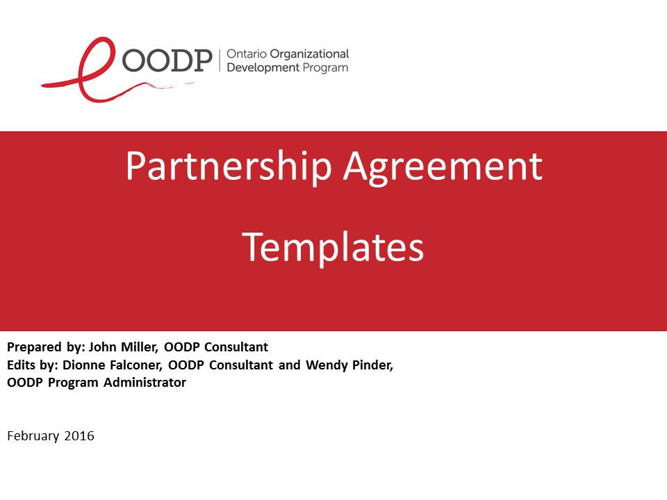 OODP Partnership Agreement Forms