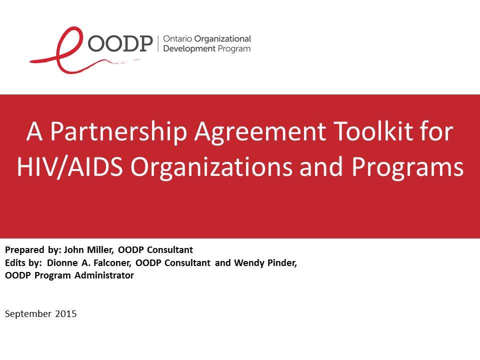 OODP Partnership Agreement Toolkit