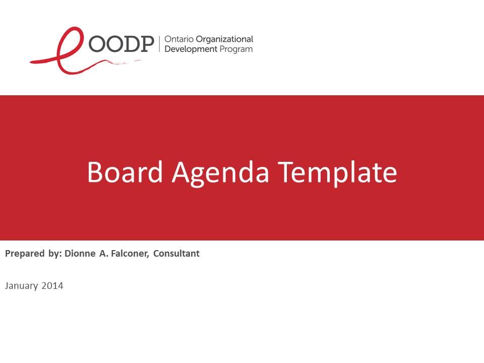 OODP Board Agenda Sample