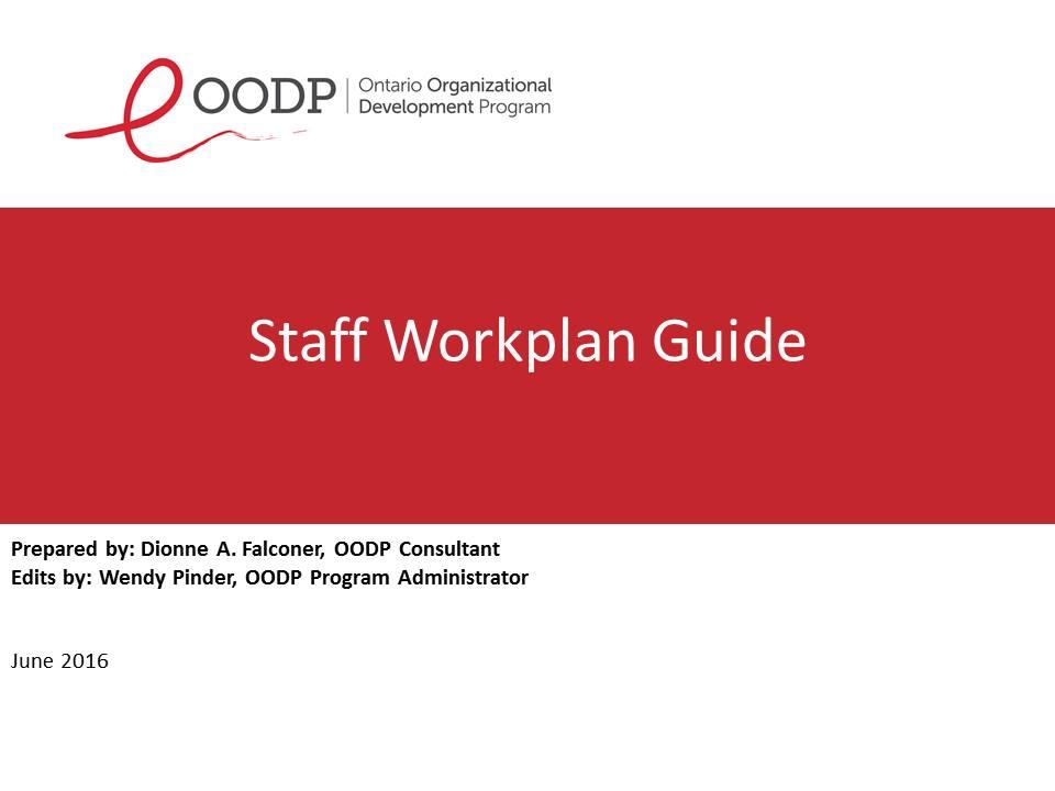 OODP Staff Work Plan Guide