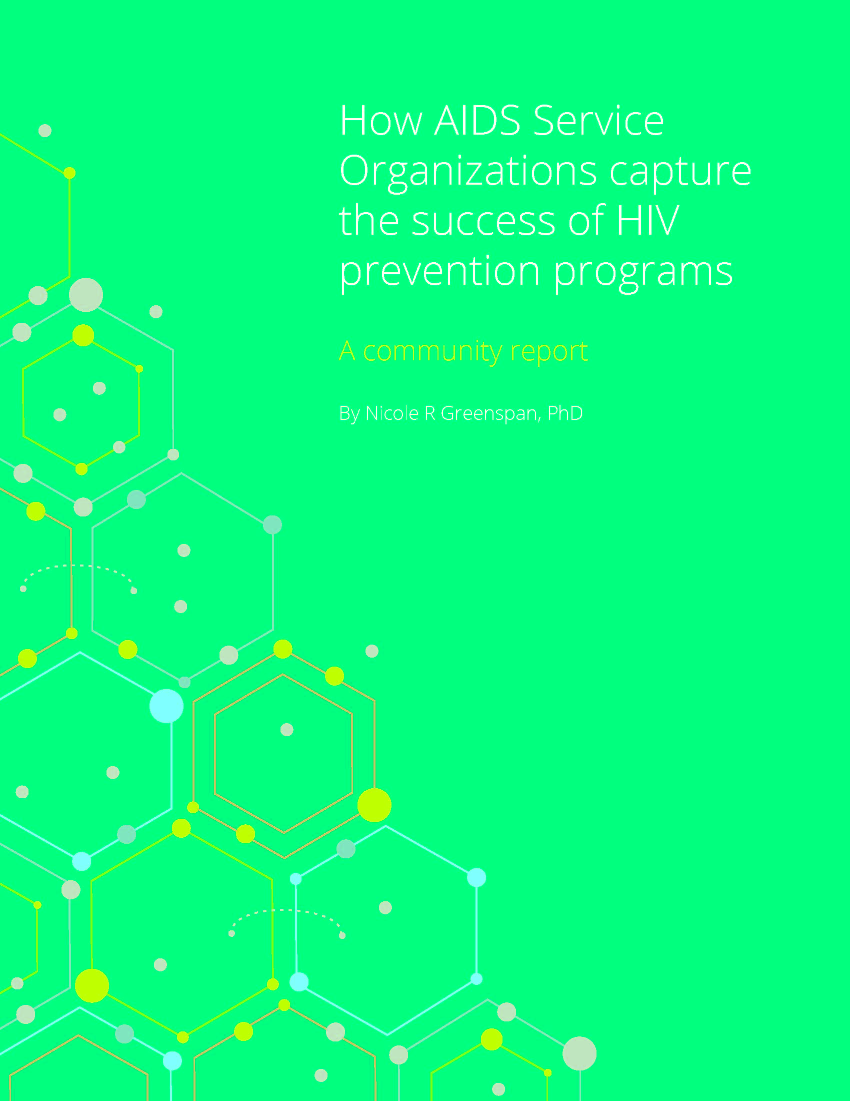 How AIDS Service Organizations capture the success of HIV prevention programs: A Community Report