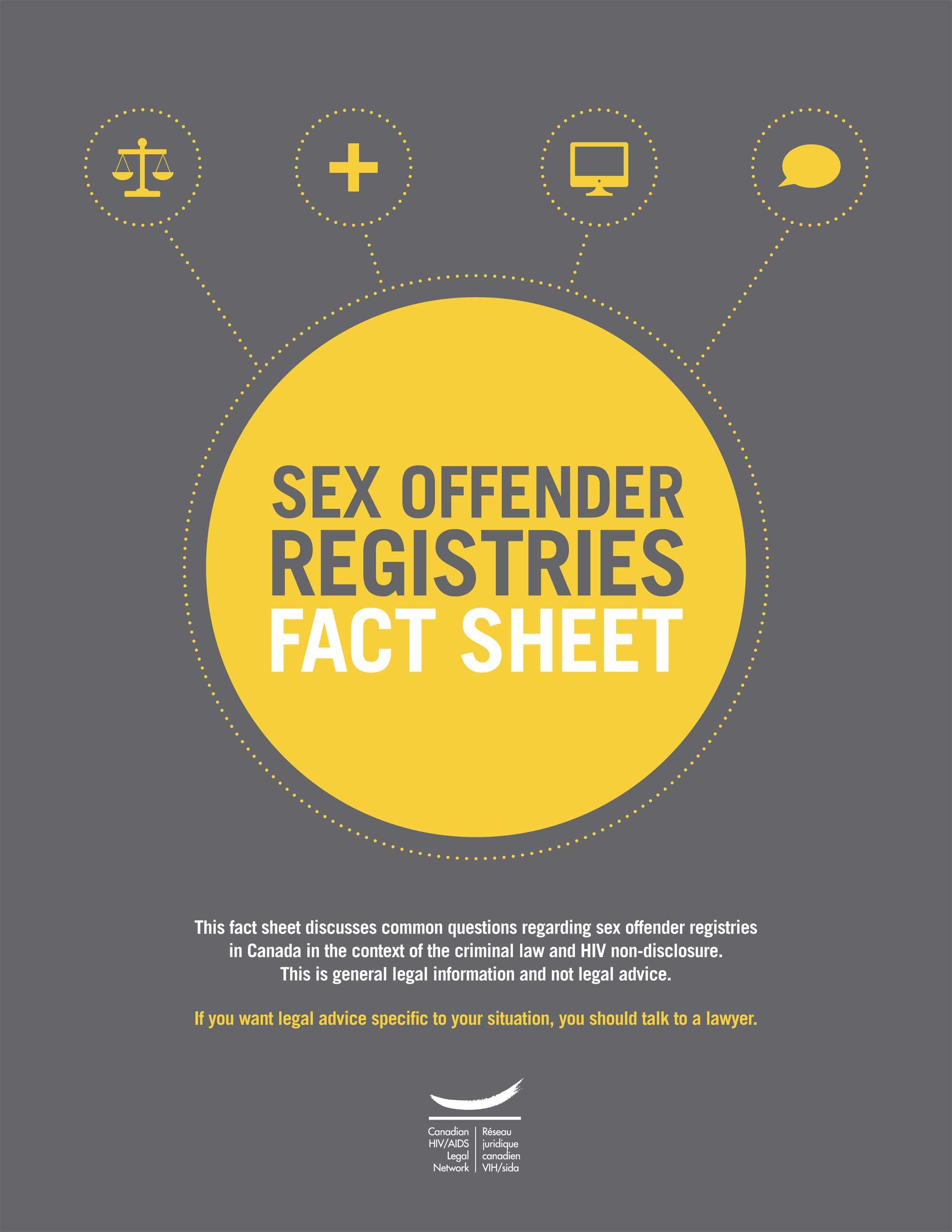 Sex Offender Registries: Fact Sheet
