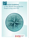 Practice guidelines in peer health navigation for people living with HIV